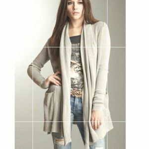 All Saints grey open cardigan sweater